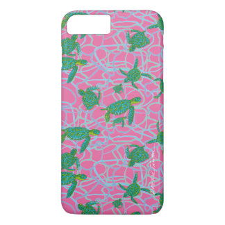 Pink & Green Sea Turtle Phone / Tablet Case