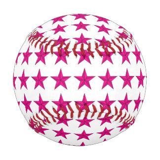 Pink Green Stars Baseball