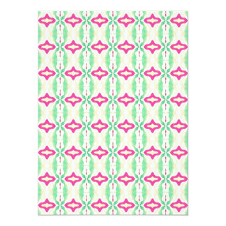Pink Green Stripes Chains Pattern Card