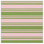 [ Thumbnail: Pink & Green Stripes Fabric ]