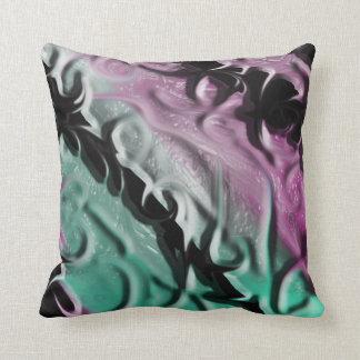 Pink Green Thorn Pillow