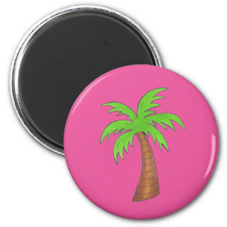 Pink/Green Tropical Palm Tree Magnet