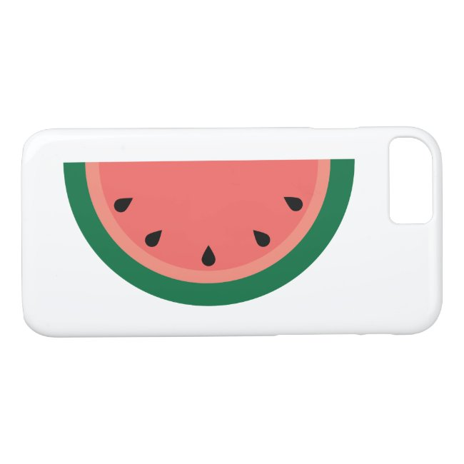 Pink Green Watermelon Slice with Seeds