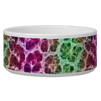 Pink Green White Abstract Bowl