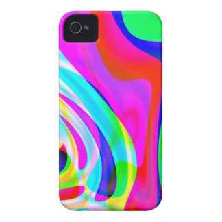 Pink Green Yellow Abstract iPhone 4 Case-Mate Case