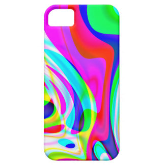 Pink Green Yellow Abstract iPhone SE/5/5s Case