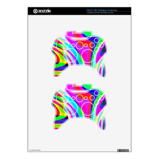 Pink Green Yellow Abstract Xbox 360 Controller Decal