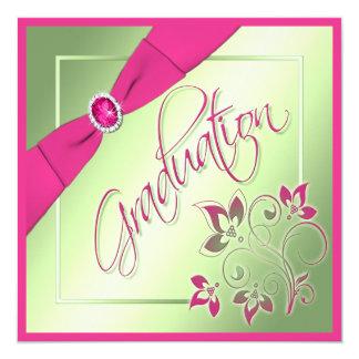 Pink, Green, Yellow Photo Graduation Invitation