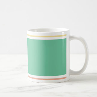 Pink Green Yellow Tri Color Design Coffee Mug