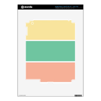 Pink Green Yellow Tri Color Design Decals For iPad 3