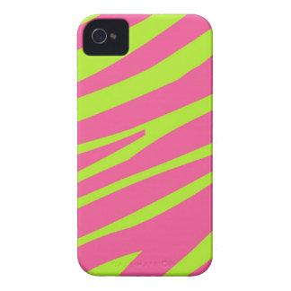 Pink Green Zebra Stripe Print iPhone 4 Case-Mate iPhone 4 Cover