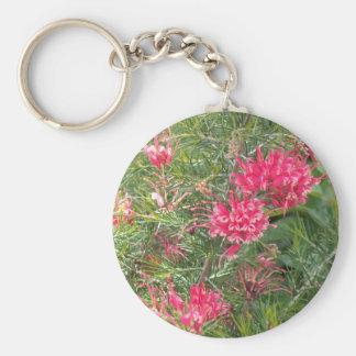 Pink Grevillea Flowers Keychain