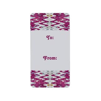 pink grey gift tags
