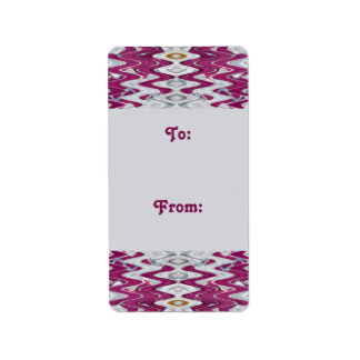 pink grey gift tags custom address labels