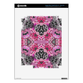 Pink Grey Girly Abstract iPad 3 Decals