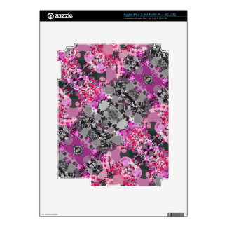 Pink Grey Girly Abstract Skins For iPad 3