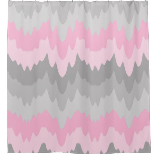 pink grey shower curtain. Pink Grey Gray Ombre Chevron Abstract Zigzag Girl Shower Curtain