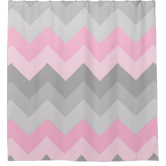 Gray And Pink Chevron Shower Curtain Curtain Menzilperde Net