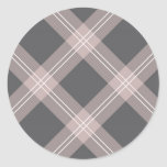 pink & grey plaid sticker