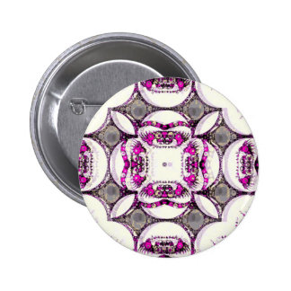 Pink Grey Trippy Abstract Pinback Button