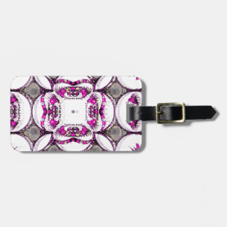 Pink Grey Trippy Abstract Tag For Luggage
