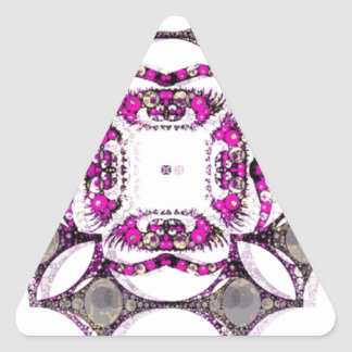 Pink Grey Trippy Abstract Triangle Sticker