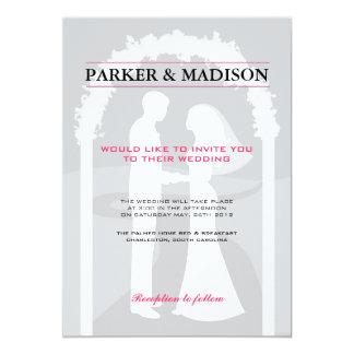 Pink & Grey Vows Card