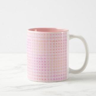 Pink Grid Cup / Mug