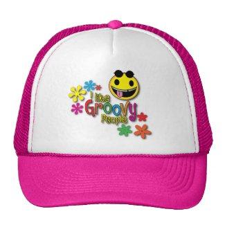 pink groovy trucker cap trucker hat