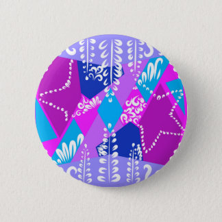 Pink Grove Pattern Pinback Button