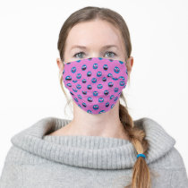 Pink Grover Face Pattern Adult Cloth Face Mask