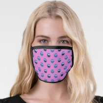 Pink Grover Face Pattern Face Mask