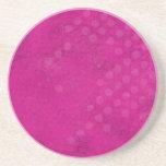 Pink Grunge Background Coaster