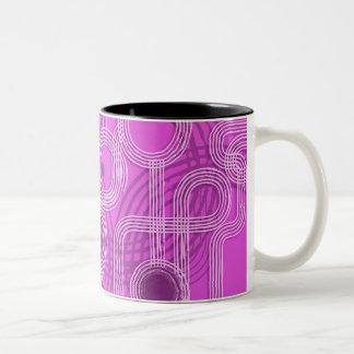 Pink Grunge Circles Mug