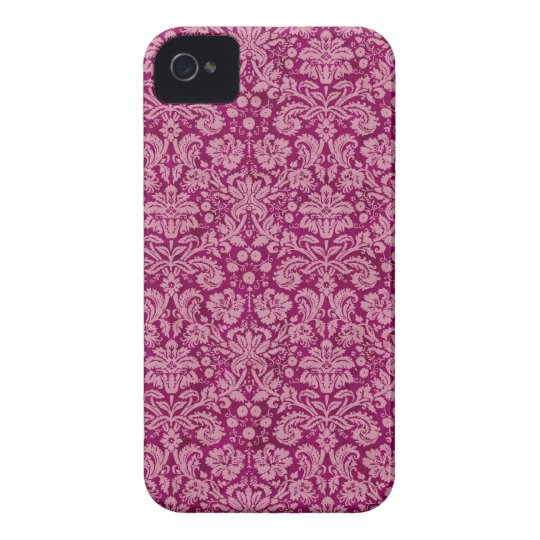 Pink Grunge Damask Pattern iPhone 4 Cover