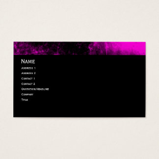 Pink Grunge Gothic Business Card