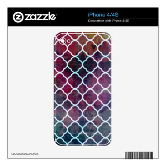 Pink Grunge Moroccan Style Skins For iPhone 4