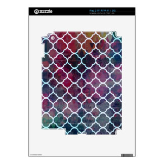 Pink Grunge Moroccan Style Skins For The iPad 2