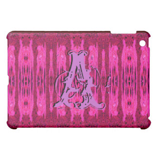Pink Grunge Pattern Monogrammed Ipad Case