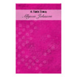 Pink Grunge Personalized Stationary Stationery Paper