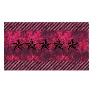 Pink grunge rockstar business card