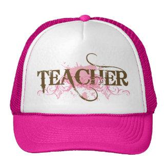 Pink Grunge Teacher Gift Hat