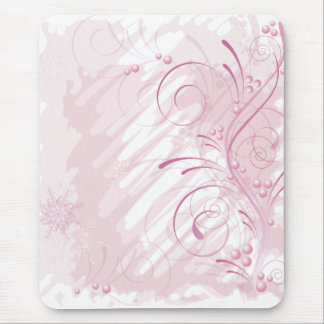 pink grunge winter mouse pad