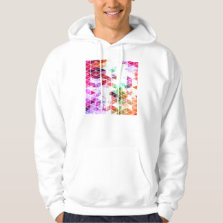 Pink Grungy Triangle Design Sweatshirt