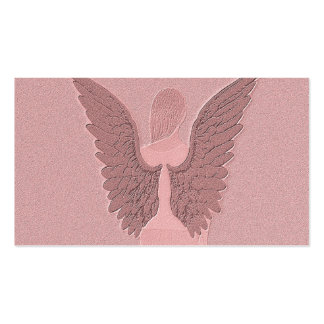 Pink Guardian Angel Business Card