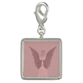 Pink Guardian Angel Charm