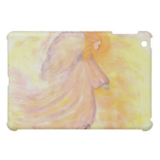 Pink Guardian Angel Watercolor iPad Mini Cases