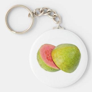 Pink guava basic round button keychain