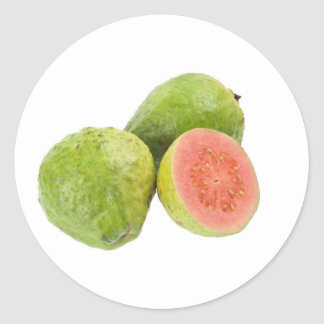 Pink guava fruit classic round sticker