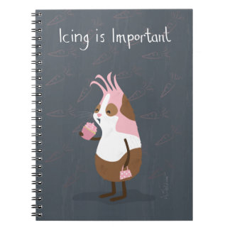 Pink Guinea Pig with Cupcake Notebook